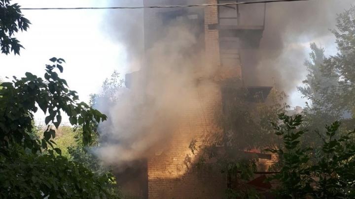 В Краснооктябрьском районе сгорела заброшенная котельная