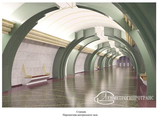 """Подземный вестибюль станции """"Юго-Западная"""""""