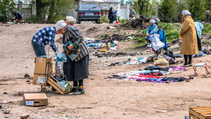 Пупсы, домино и «Советы садоводу»: 63.ru исследовал ассортимент блошиного рынка