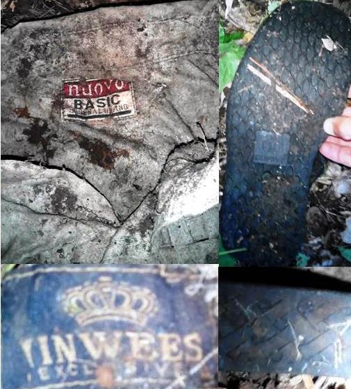 Одежда, которую нашли вместе со скелетированными останками