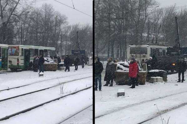 Просто остановка общественного транспорта в Ярославле