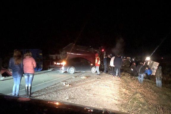Движение перекрыто: на 40 километре трассы Тюмень–ХМАО авария