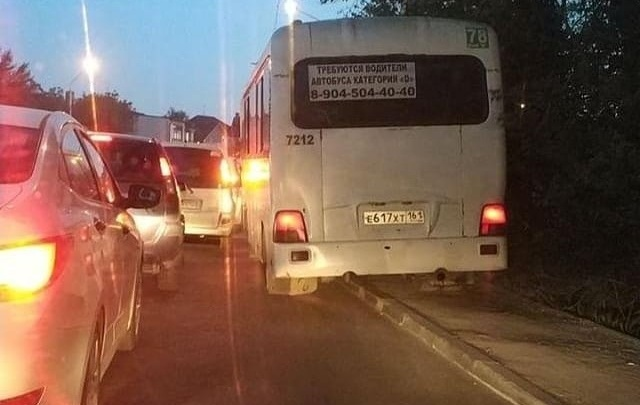 В Ростове водителя маршрутки, который проехал по тротуару, проверяет полиция