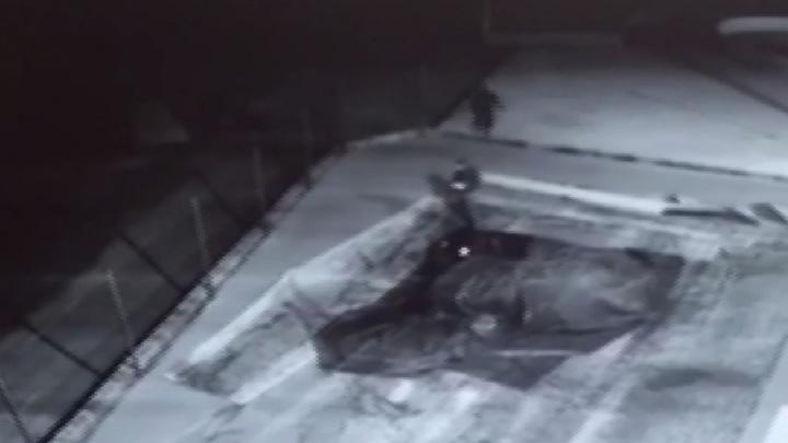 Полиция в Волгограде по видео ищет поджигателей батута в парке Гагарина