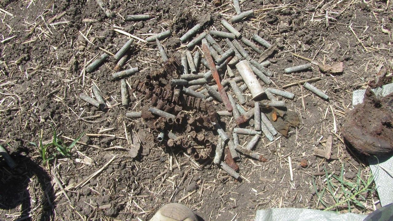 Боеприпасы, найденные в опорном пункте