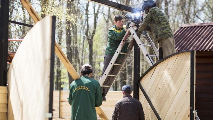В Ярославле в Юбилейном парке начали строить контактный зоопарк