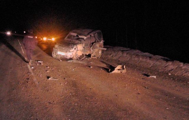 Выпил за рулем: на трассе в Прикамье УАЗ протаранил грузовик