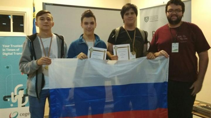 Ученики лицея №31 привезли три медали с международной олимпиады по информатике