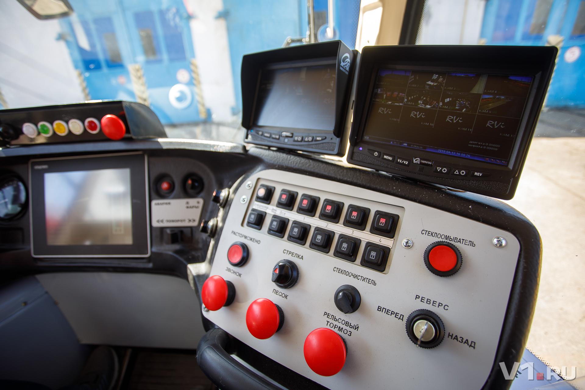 Так выглядит кабина современного трамвая