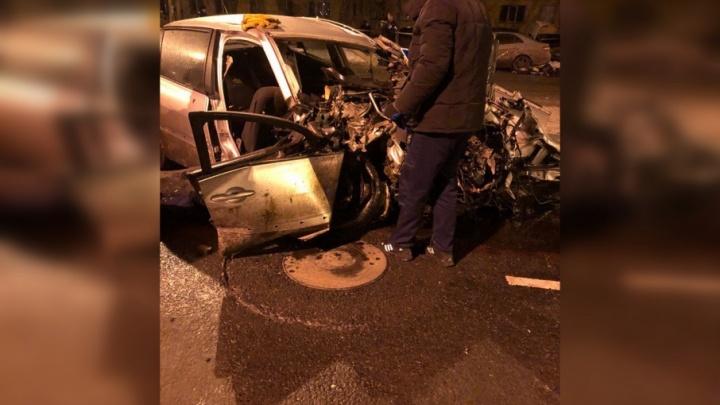 Появилась видеозапись момента аварии с четырьмя погибшими в Тракторозаводском районе