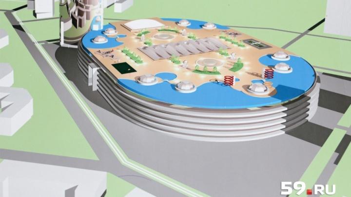 Планы изменились: в Перми застройщик отложил строительство ТЦ с аквапарком на месте «Красных казарм»