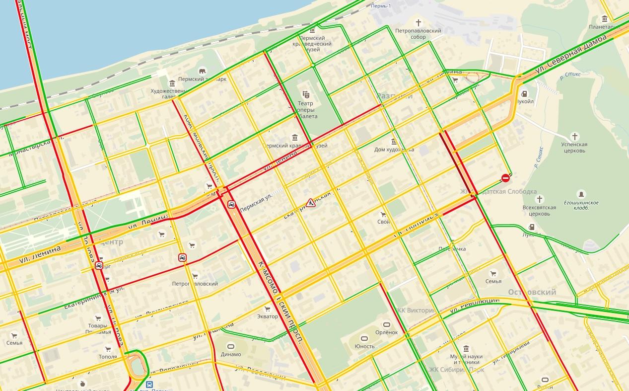 Пробки в городе - 7 баллов
