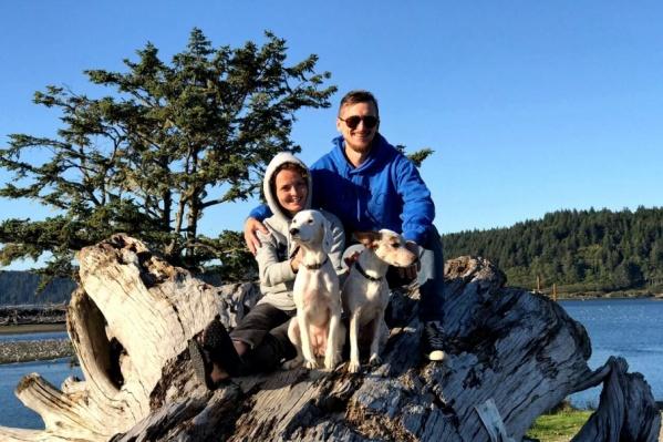 Собаки сопровождают хозяев повсюду и тоже  запросто идут в горы со страховкой