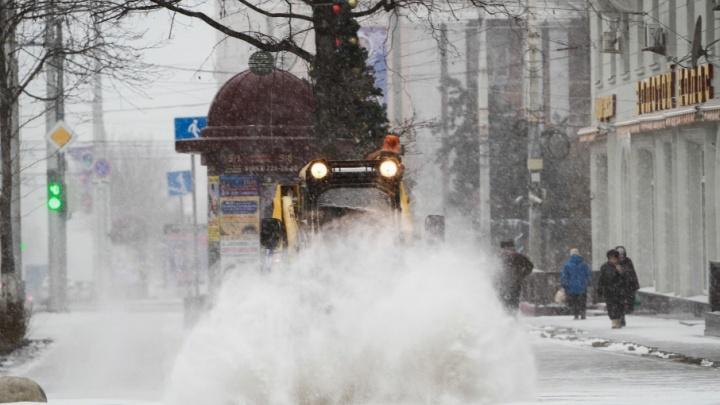 В Ростове из-за непогоды ввели режим повышенной готовности
