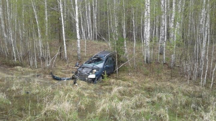 В Голышманово автомобилистка на Chevrolet улетела в кювет, есть пострадавшие