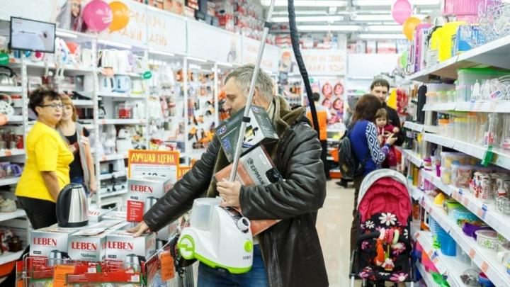 Лампа накаливания — всего 5 рублей: шок-цены на праздничном открытии «Галамарт» в Тольятти