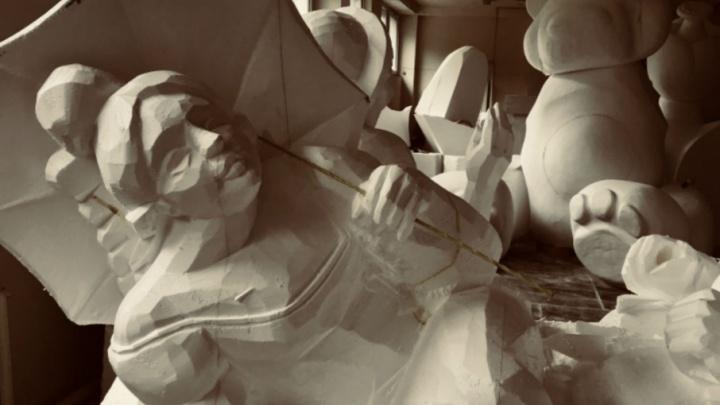 Медведь и горожанка на старинном велосипеде: на набережной в Перми появятся семь скульптур из пенопласта