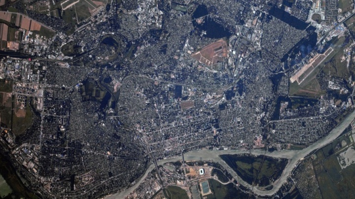 Космонавт поздравил ростовчан снимками Ростова из космоса