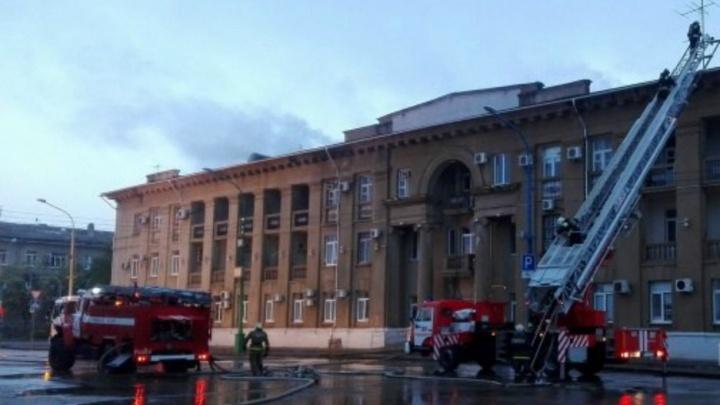 В Волжском подожгли здание администрации