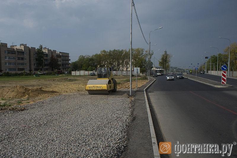 Граница второго и первого участков расширения Петербургского шоссе.