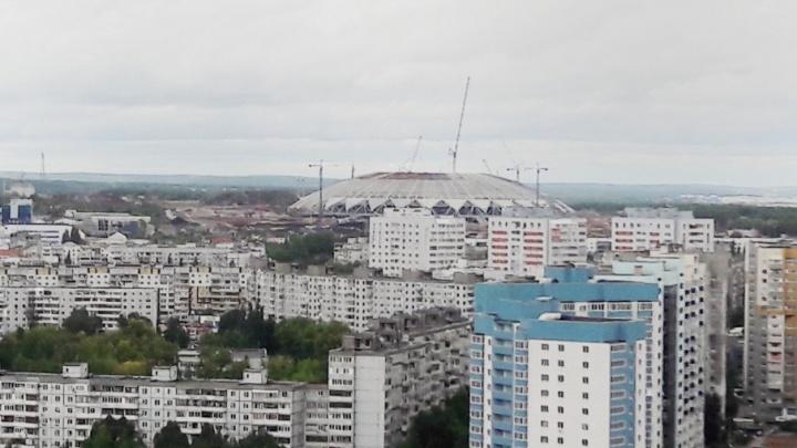 Купол «Самара-Арены» будут окаймлять 32 «лепестка» из ПВХ-мембраны и поликарбоната
