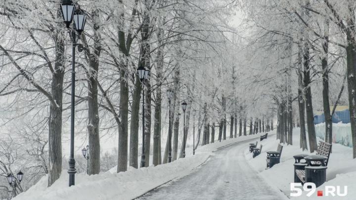 Снегопады и потепление: какой будет погода в Прикамье на этой неделе