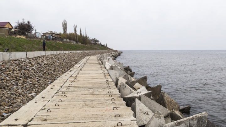 В Дубовке за 78 миллионов рублей укрепили полкилометра берега Волги