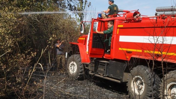 В Волгоградской области потушили последний пожар