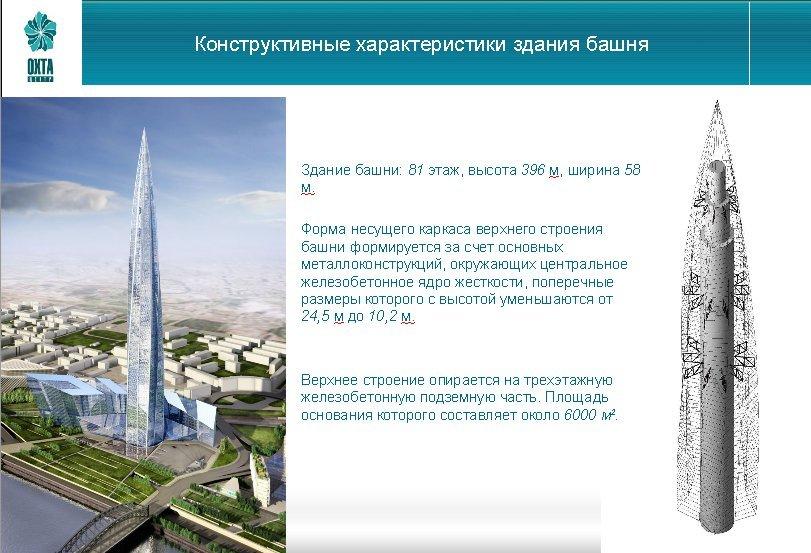 Конструктивные характеристики здания башни