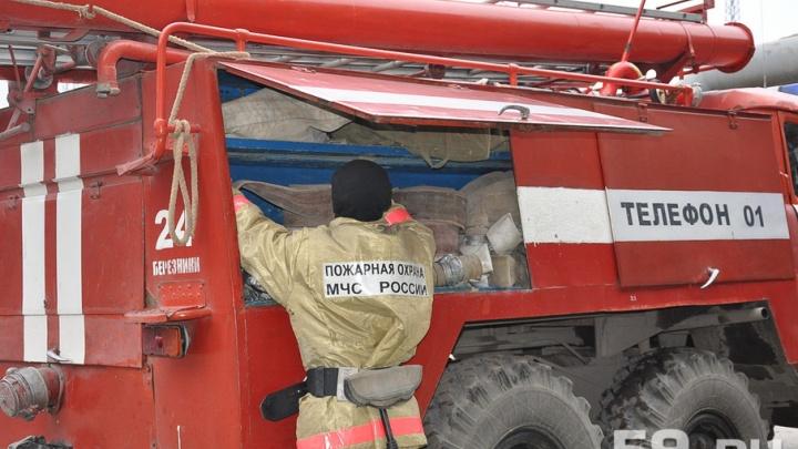 В Прикамье из-за короткого замыкания в старом телевизоре сгорел дом