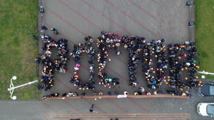 Георгиевские ленты и шары: ростовчане приняли участи во флешмобе в честь Дня героя Отечества