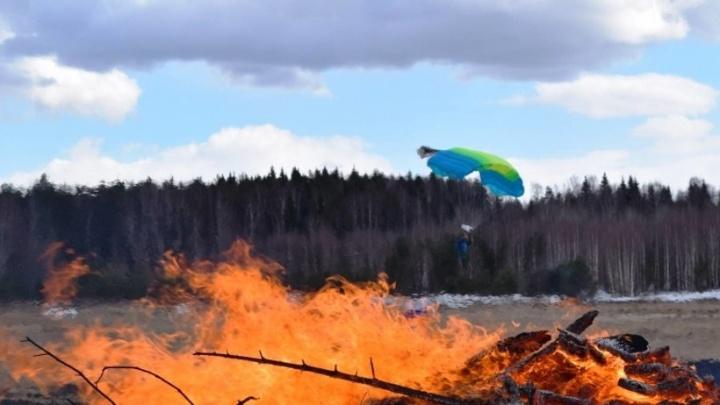 В Мезенском районе бушует лесной пожар