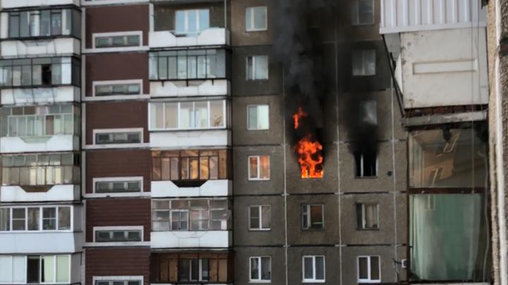 Из-за детской шалости вспыхнула квартира в Ленинском районе Челябинска