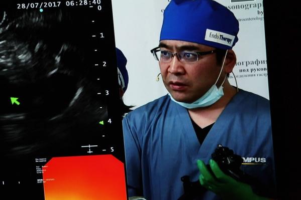Профессор из Японии Казуо Хара демонстрирует новые возможности эндосонографии