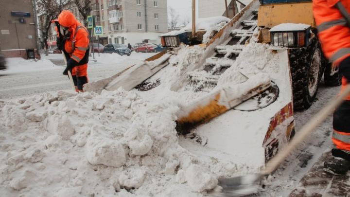 Тюмень готовится к снегопаду: автовладельцев просят не оставлять машины вдоль дорог