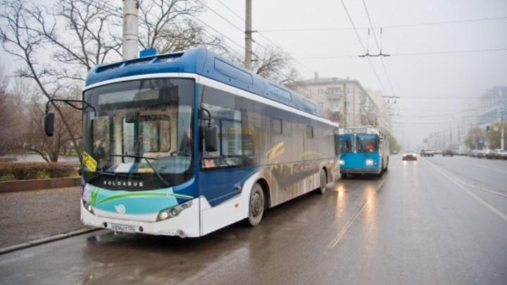 В Волгограде по 10-му троллейбусному маршруту пустили электробус