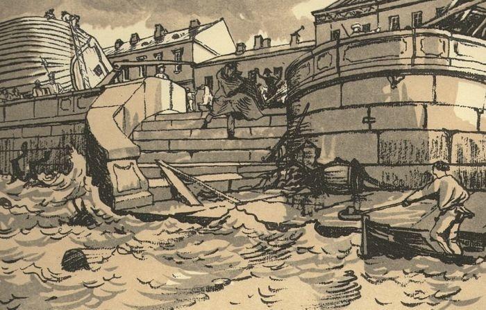 "А. Бенуа. ""Наводнение"", 1916 г."