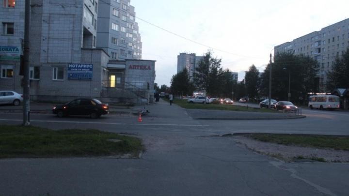 В Северодвинске 12-летний велосипедист стал неожиданностью для водителя «Лады»