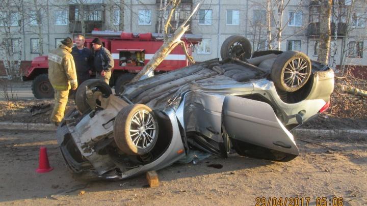 В Новодвинске нетрезвый водитель «Лады» протаранил дерево