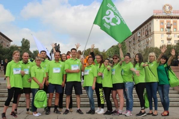 Команда «Сады Придонья» пробежала два километра и внесла свой вклад в поддержку «детей-бабочек»