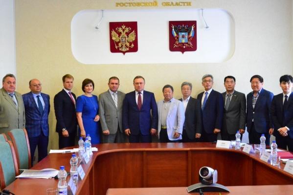Предприниматели из Южной Кореи на встрече с правительством Ростовской области