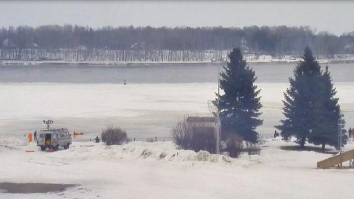В Рыбинске мужчина провалился под лёд, пытаясь спасти собаку