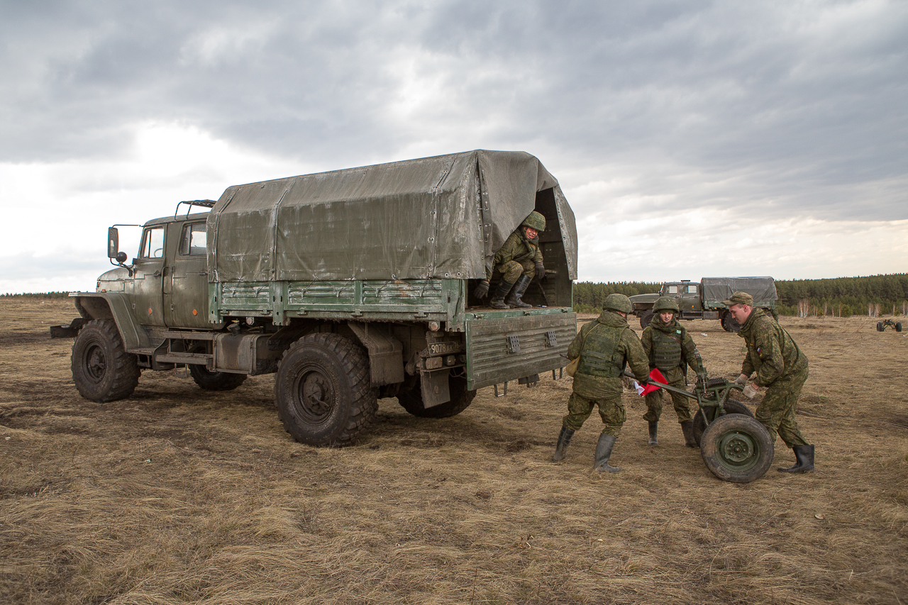 120-мм возимый миномёт «Сани»