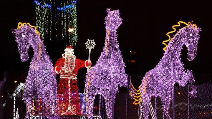 Светящийся фонтан и сказочные консоли: чем украсят улицы Самары  к Новому году