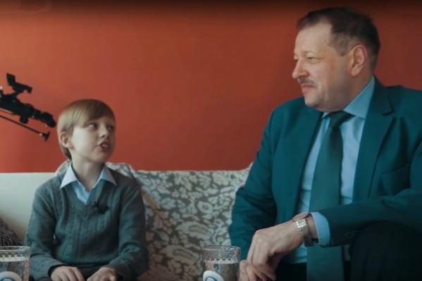 Роль Демида исполнил 10-летний воспитанник медиашколы «Фокус» Гавриил Жмырко