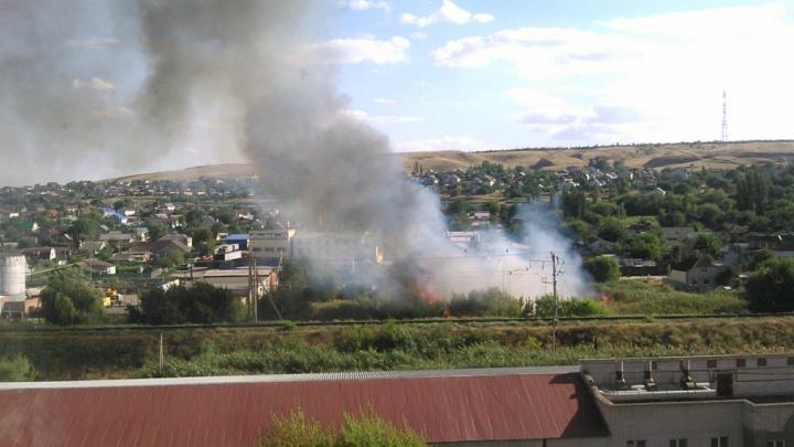 На окраине Красноармейского района загорелся сухой камыш