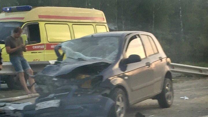 Три авто столкнулись на трассе Екатеринбург–Тюмень