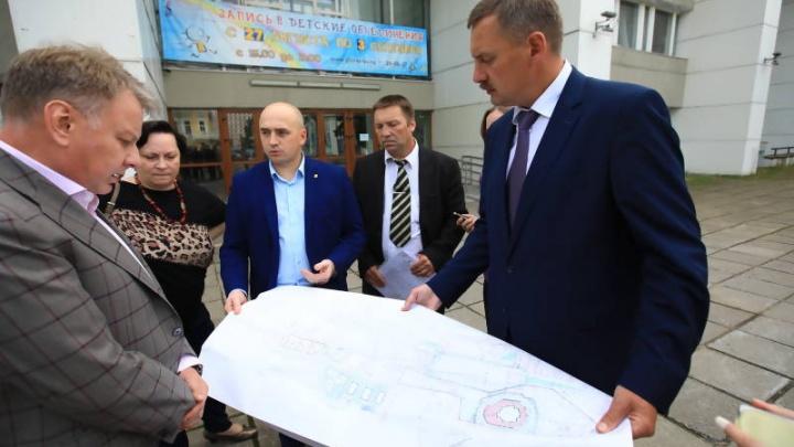 В Архангельске на площади Профсоюзов городские власти хотят построить бульвар
