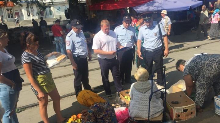 За торговлю овощами в центре Ростова на пенсионерок составили протоколы