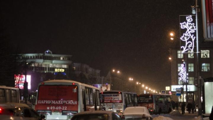 В новогоднюю ночь в Архангельске на несколько часов перекроют движение в центре города